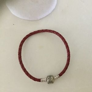 Jewelry - Pandora leather bracelet